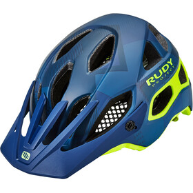Rudy Project Protera Casque, blue camo/yellow fluo
